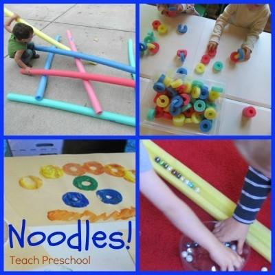 Ten ways to use your noodle | Teach Preschool | Scoop.it