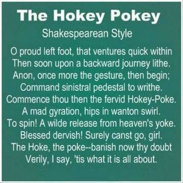 The Hokey Pokey Shakespearean Style | Life Harmony | Scoop.it