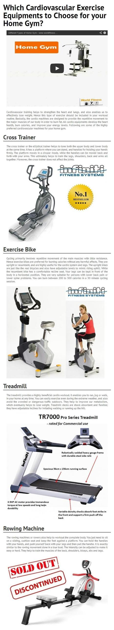 Which Cardiovascular Exercise Equipments to Choose for your Home Gym?   worldfitness   Scoop.it