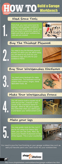 How to Build a Garage Workbench | Shop4shelves | Scoop.it