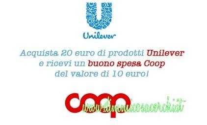 Buoni spesa Coop del valore di 10 euro con Unilever | Coupon, Buoni Sconto, spesa e benzina. Promozione varie | Scoop.it