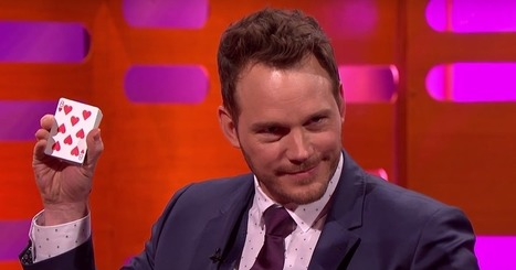 Chris Pratt Goes Full Andy Dwyer With the Best-Worst Card Trick of All Time | Chain Letters from above | Scoop.it