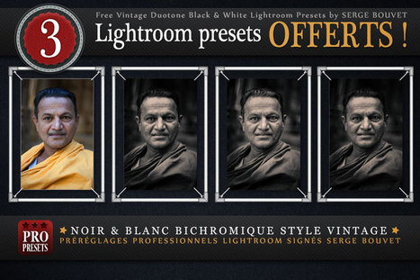 Presets Lightroom Noir & Blanc Bichromiques gratuits | Photographe: Serge Bouvet | BLACK AND WHITE | Scoop.it