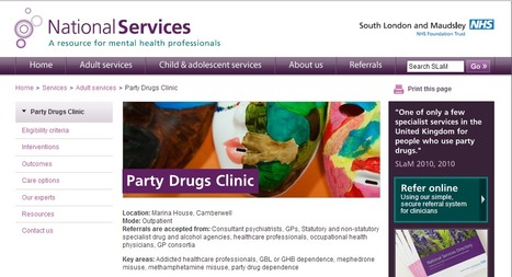 Party Drugs Clinic - South London and Maudsley National Services | Initiatives & Services | Scoop.it