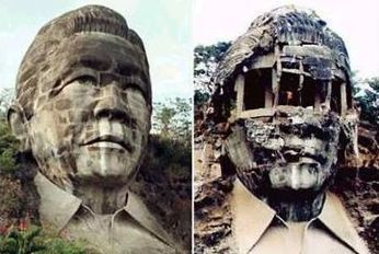 The exploded bust of Ferdinand Marcos | Michael John Grist | Modern Ruins, Decay and Urban Exploration | Scoop.it