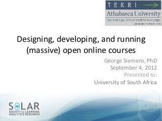Designing and running a MOOC (in 9 easy steps) | By George Siemens | Connectivism | Scoop.it