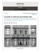 La Boîte à outils du journaliste web - Nicolas Becquet | Formation multimedia | Scoop.it