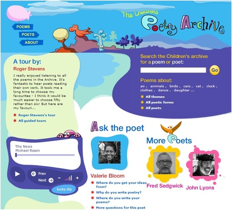 Children's Poetry Archive | Technology in Education | Scoop.it