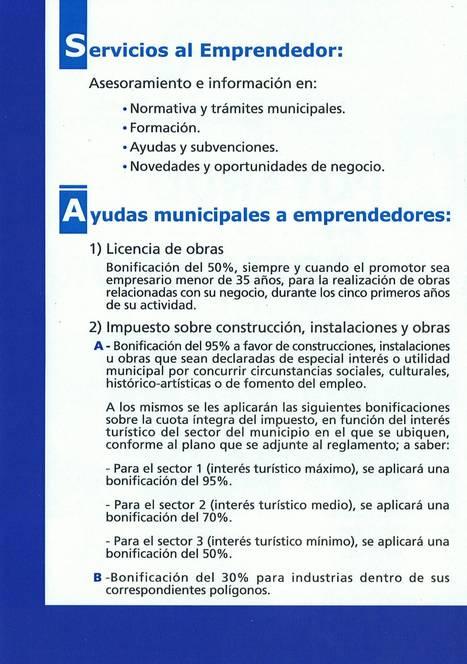 Servicios al Emprendedor y Ayudas Municipales | Investments at Águilas - Inversiones en Águilas | Scoop.it
