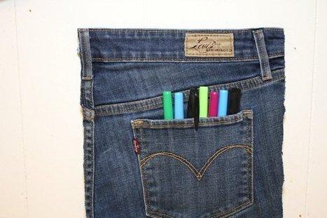 Jean Pocket Organizer   1001 Recycling Ideas !   Scoop.it