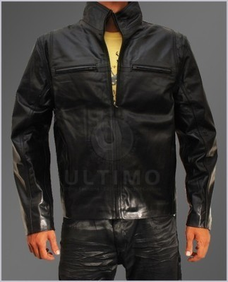 The Other Guys Whalberg Black Bomber Leather Jacket   You like leather jackets since nobody ignored it   Scoop.it