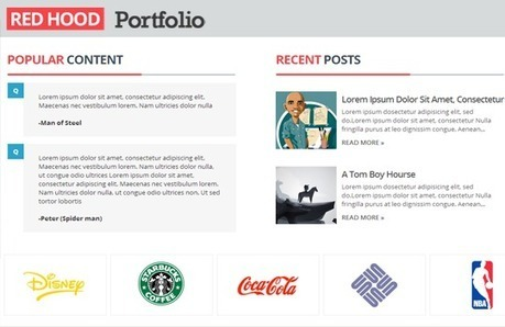 Red Hood Portfolio Blogger Template | Templateism | Blogger themes | Scoop.it