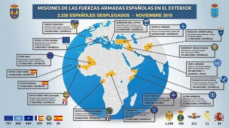 Misiones de las Fuerzas Armadas españolas en el exterior (nov.2015) | Política de Defensa PND | Scoop.it
