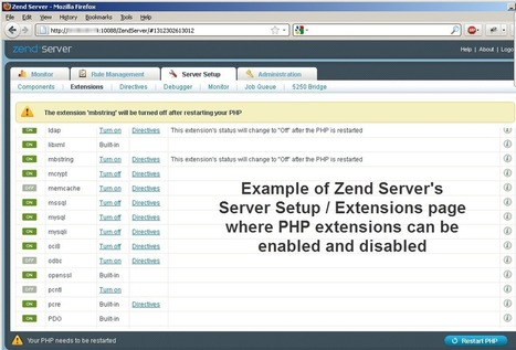 PHP performance tip: disable unused extensions with Zend Server | Alan Seiden Consulting: PHP and IBM i Expertise | Zend Development | Scoop.it