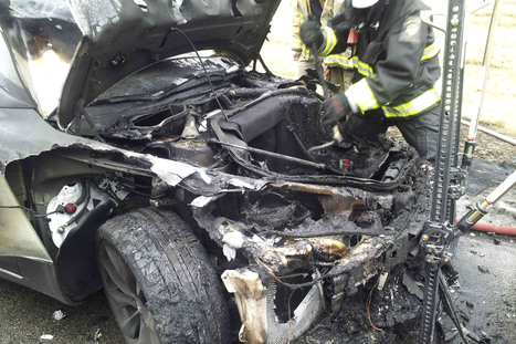 Third Tesla Model S catches fire, brings call for safetyinquiry | New York Personal Injury News | Scoop.it