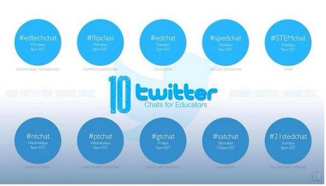 10 Twitter Chats Every Teacher Should Know About ~ Educational Technology and Mobile Learning | Sheila's Edtech | Scoop.it