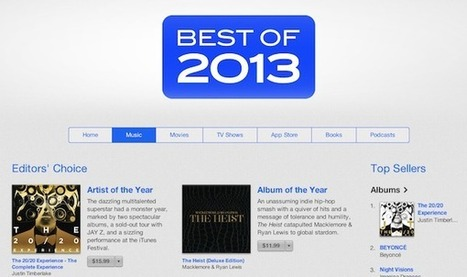 The 21 Top Selling iTunes Albums of the Year... | Digital Music News | Scoop.it