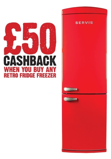 Servis - C60185NFR - Chilli Red - Retro Fridge Freezer | There's no place like home! | Scoop.it