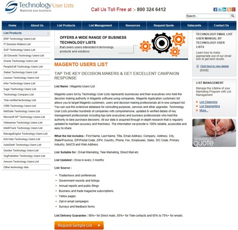 Gain Highly Targeted Magento Customers List from Technology User Lists | Technology Email List | Scoop.it