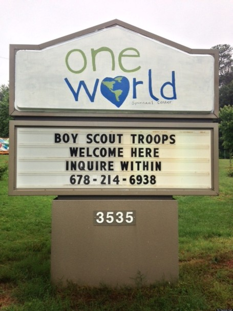 Church Sign Welcomes Boy Scouts After Gay Ban Is Lifted - Huffington Post | LGBT Times | Scoop.it