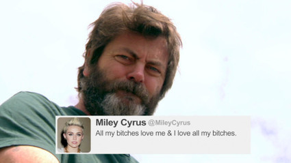 Nick Offerman Reads Tweets From Young Female Celebrities Vol. 8 | Online Blogging | Scoop.it