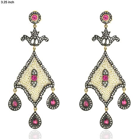 Seed Pearl Chandelier Earrings | 18k Gold Jewelry | GemcoDesigns | contracted | Scoop.it