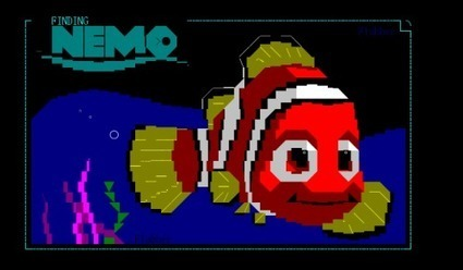 Finding Nemo. ANSI by flubber. | ASCII Art | Scoop.it