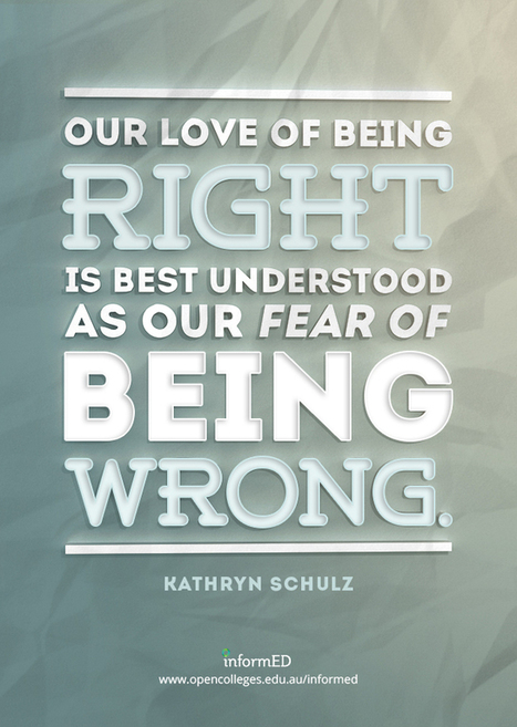 Overcoming the Fear of Being Wrong: 20 Ways To Help Your Students | Character and character tools | Scoop.it