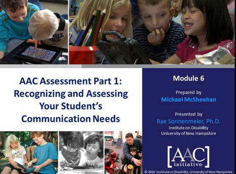 Video of the Week: Assessing Communication Needs in AAC Learners | AAC: Augmentative and Alternative Communication | Scoop.it