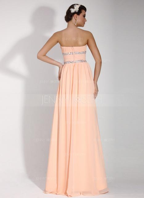 [€ 119.88] A-Line/Principessa Senza spalline Tè-lunghezza Chiffona Abito Festivi con Increspature Perline (020016074)   wedding dress   Scoop.it