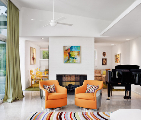 Color Fix: Energize Your Room With a Colorful Club Chair | Designing Interiors | Scoop.it