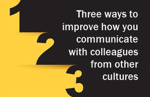 Three Ways to Improve How Colleagues from Other Cultures Hear You - Sherwood Fleming's Intercultural Communication Insights | Business change | Scoop.it