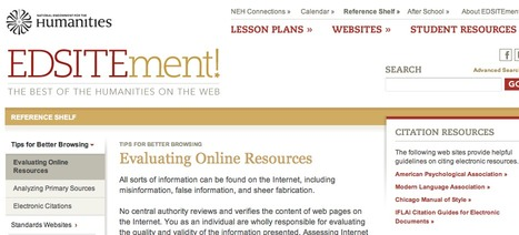 Evaluating Online Resources | EDSITEment | Adult Literacy | Scoop.it