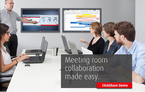 Wireless meeting room collaboration made easy with the click of a button | clickshare | Scoop.it
