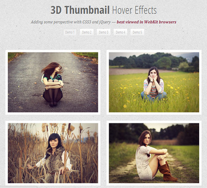 3D THUMBNAIL HOVER EFFECTS | Juneja Web Blog | Web Inspiration | Scoop.it