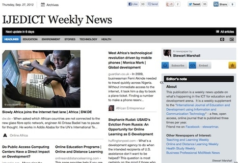 Sept 27 - IJEDICT Weekly News is out | Studying Teaching and Learning | Scoop.it