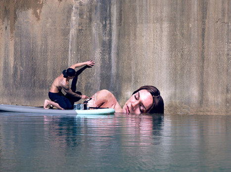 Artist Paints Stunning Seaside Murals While Balancing On A Surfboard | Organic Pathos | Scoop.it