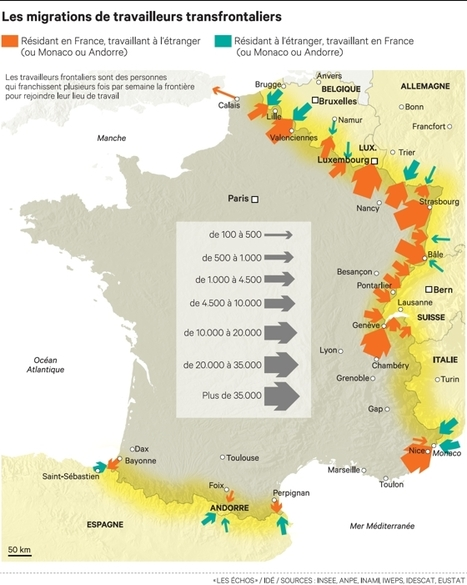 Immobilier, transport, social : le boom du travail transfrontalier ... - Les Échos | Mandataire en immobilier | Scoop.it