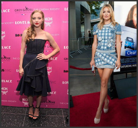 Kate Hudson, Amanda Seyfried dress up denim on the red carpet - Los Angeles Times | From the red carpet! | Scoop.it