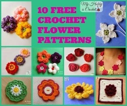 THE FLOWER BED: 10 Free Crochet Flower Patterns | CU4CU images, photos, scrapbooking etc | Scoop.it