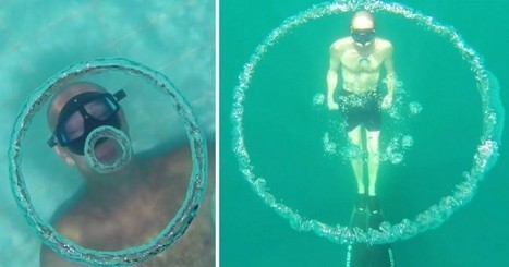 French Freediver Is Capable of Blowing Bubble Rings Underwater, Like a Dolphin | Strange days indeed... | Scoop.it