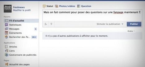 Comment poser une question sur une page Fan Facebook ? | How to be a Community Manager ? | Scoop.it