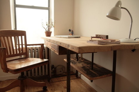 Industrial Reclaimed Wood Stand-Up Desk - Modern - Desks And Hutches - new york - by Coil + Drift | Innovation | Scoop.it
