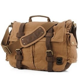 Vintage leather and canvas messenger bags for laptop by Ubackpack | personalized canvas messenger bags and backpack | Scoop.it