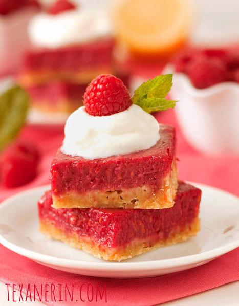 Raspberry Lemon Bars – 100% Whole Grain and Honey Sweetened - Texanerin Baking | Just Chocolate!!! | Scoop.it