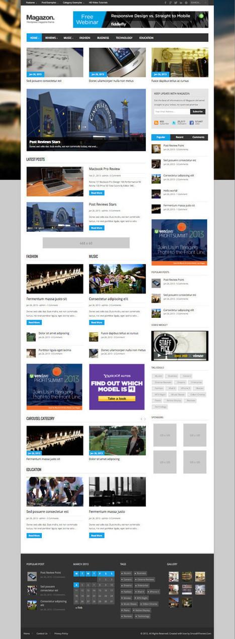 Magazon Responsive WordPress News or Magazine Theme | .:CONTENT CURATION:. | Scoop.it