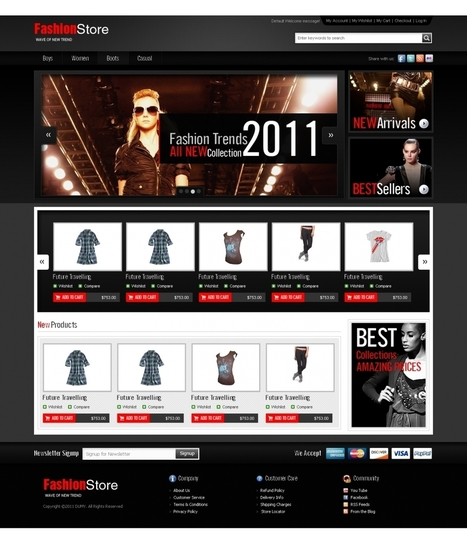 Top PrestaShop Fashion Store Theme, Template   Prestashop Themes and Other News   Scoop.it