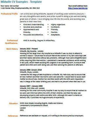 Midwife cv example uk job vacancies midwife cv example yelopaper Choice Image
