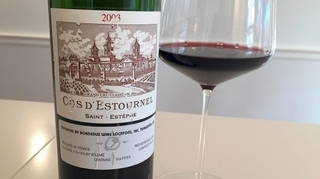 """The 2003 Cos d'Estournel is a total knock out"" (by Antonio Galloni) 