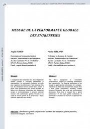 Mesure de la performance globale des entreprises « symbio-tic.fr | Centre des Jeunes Dirigeants Belgique | Scoop.it